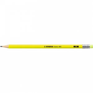 Ceruzka STABILO Swan Fluo s gumou žltá 12ks