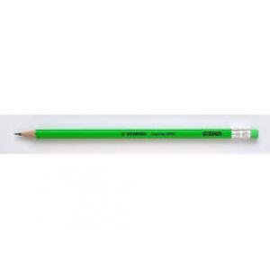 Ceruzka STABILO Swan Fluo s gumou zelená 12ks