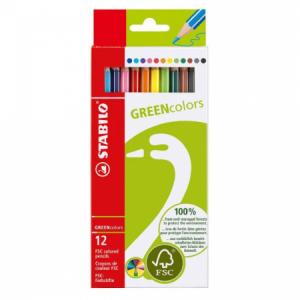Farbičky STABILO GREENcolors 12ks