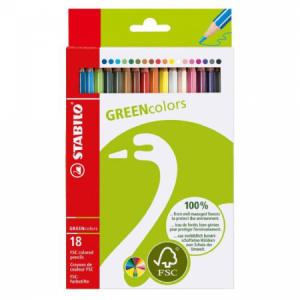 Farbičky STABILO GREENcolors 18ks