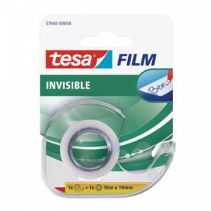 Lepiaca páska TESA invisible 19mmx10m neviditeľná popisovateľná s dispenzorom