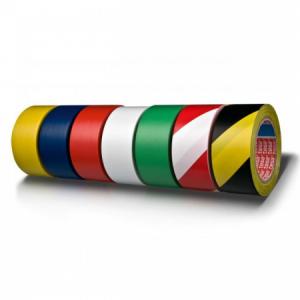 Vyznačovacia páska lepiaca TESA 50mmx33m bielo-červená