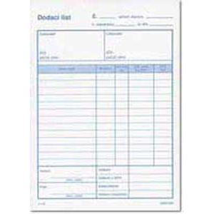 Dodací list A4 s DPH samoprepis
