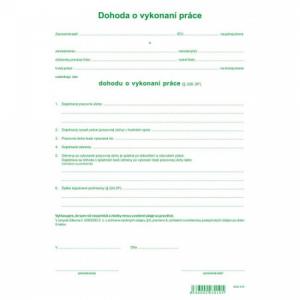 Dohoda o vykonaní práce A4 1000ks