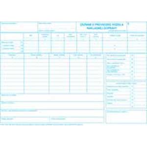 Záznam o prevádzke vozidla náklad.dopravy A4 100list číslov