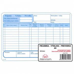 Príjemka - výdajka - prevodka A5 samoprepis