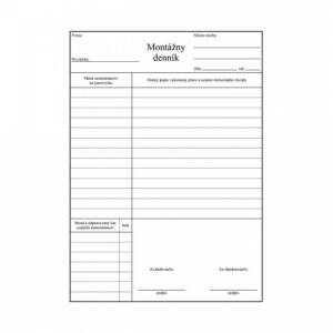 Montážny denník A4 100 listov samoprepis