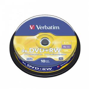 Verbatim DVD+RW 4x 4,7GB cake 10 ks