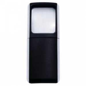 Lupa 3,5x3,8cm s podsvietením čierna