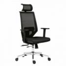 Kancelárska stolička Edge čierna s čiernym sedákom