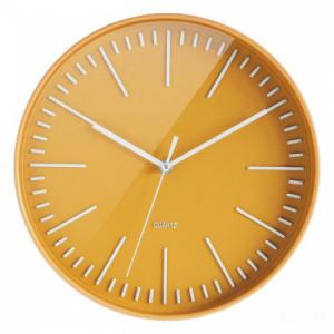 Nástenné hodiny Orium žlté