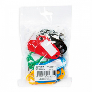 Menovky na kľúče Office Products mix farieb 20ks