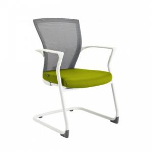Rokovacia stolička MERENS WHITE BI203 zelená
