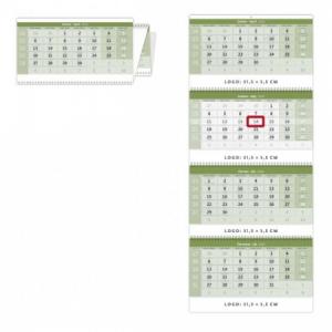 Štvormesačný kalendár so špirálou GREEN 2020