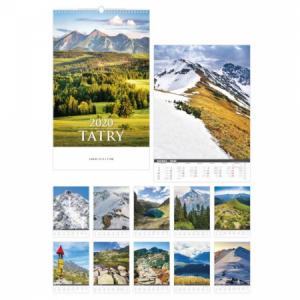 Nástenný kalendár Tatry 2020