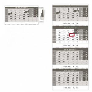 Štvormesačný kalendár so špirálou šedý 2020