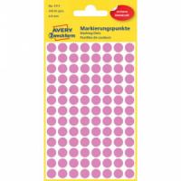 Etikety kruhové 8mm Avery ružové