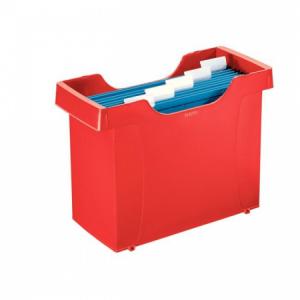 Zásobník na závesné obaly Leitz Plus červený