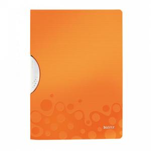 Obal s klipom plastovým Leitz WOW oranžový