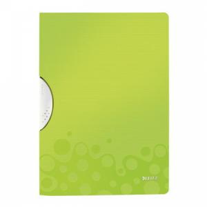 Obal s klipom plastovým Leitz WOW zelený
