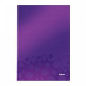 Záznamová kniha Leitz WOW A4 80 listov štvorčeková purpurová