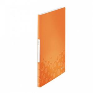 Katalógová kniha 20 Leitz WOW metalická oranžová