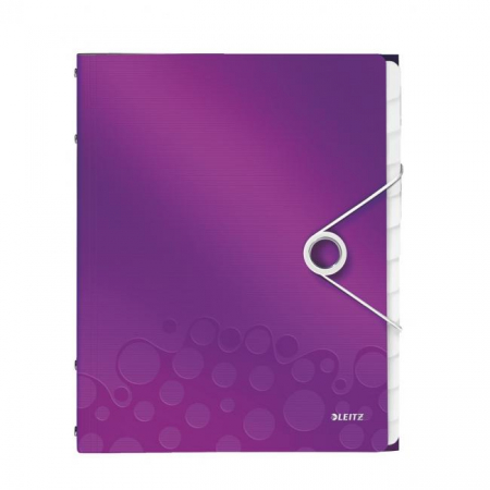 Triediaca kniha 12 Leitz WOW purpurová
