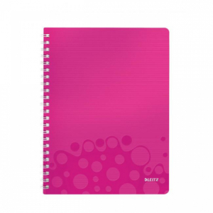 Blok poznámkový linajkový Leitz WOW A4 ružový