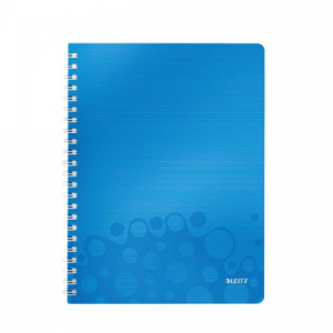 Blok poznámkový linajkový Leitz WOW A4 modrý
