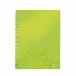 Blok poznámkový linajkový Leitz WOW A4 zelený
