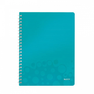 Blok poznámkový štvorčekový Leitz WOW A4 ľadovo modrý