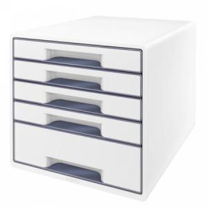Zásuvkový box Leitz WOW sivý