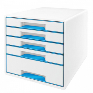 Zásuvkový box Leitz WOW metalický modrý
