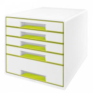 Zásuvkový box Leitz WOW metalický zelený