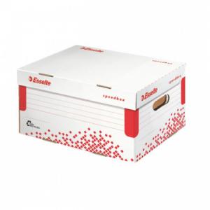 Archívna škatuľa Esselte Speedbox A4 so sklápacím vekom biela/červená