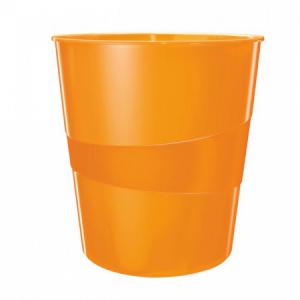 Kôš plastový Leitz WOW 15l oranžový