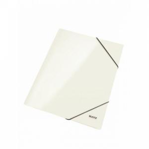 Kartónový obal lesklý s gumičkou Leitz WOW perleťovo biely