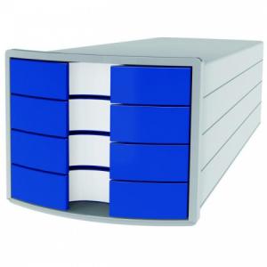 Zásuvkový box Impuls sivý/modrý