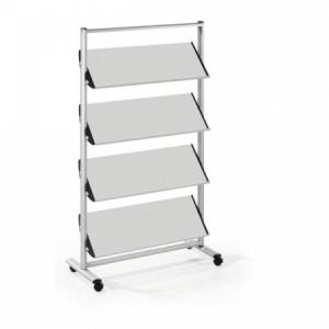 Mobilný prezentačný stojan Helit 12xA4 sivý/kov