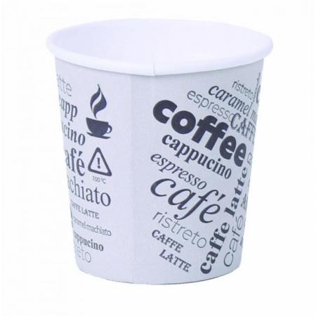 Papierový pohár 0,1l _Coffee to go_ s motívom 50ks