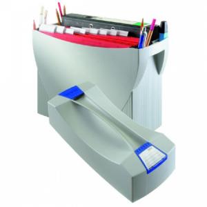 Prenosný box na závesné obaly HAN SWING s vekom sivý