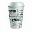 Plastové viečko biele 80 mm _Coffee to go_ 100ks