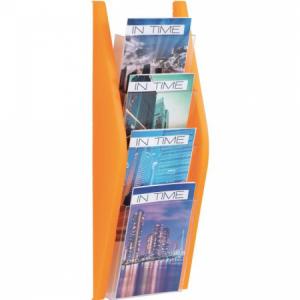 Prezentačný stojan Helit 4xA5 oranžový