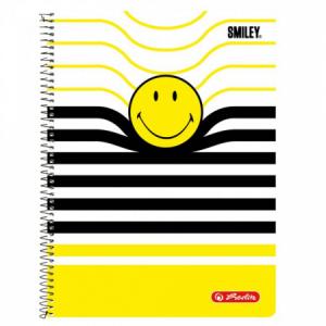 Blok poznámkový štvorčekový Herlitz Smiley World B&Y Pásiky