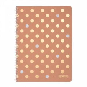 Blok poznámkový štvorčekový Herlitz Pure Glam A4 80 listov