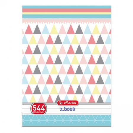 Zošit 544 A5 40 listov linajkový pastel mix