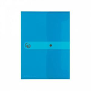 Plastový obal A5 s cvočkom Herlitz Easy Orga priehľadný modrý