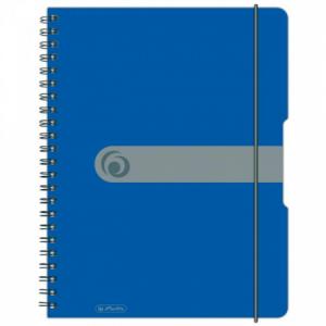 Blok poznámkový štvorčekový Herlitz Easy Orga A4 80 listov modrý