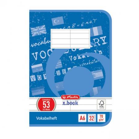 Zošit Herlitz A6 32 listov linajkový slovníček
