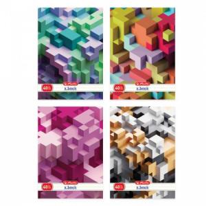 Zošit Herlitz A4 40 listov linajkový s parciálnym lakom Tetris